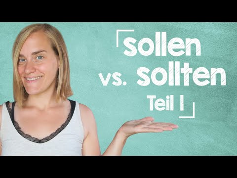 """German Lesson (157) - WHAT AM I SUPPOSED TO DO?! - The Verb """"sollen"""" - Modal Verbs - A2/B1"""
