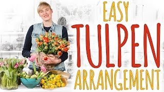 easy tulpen arrangement diy