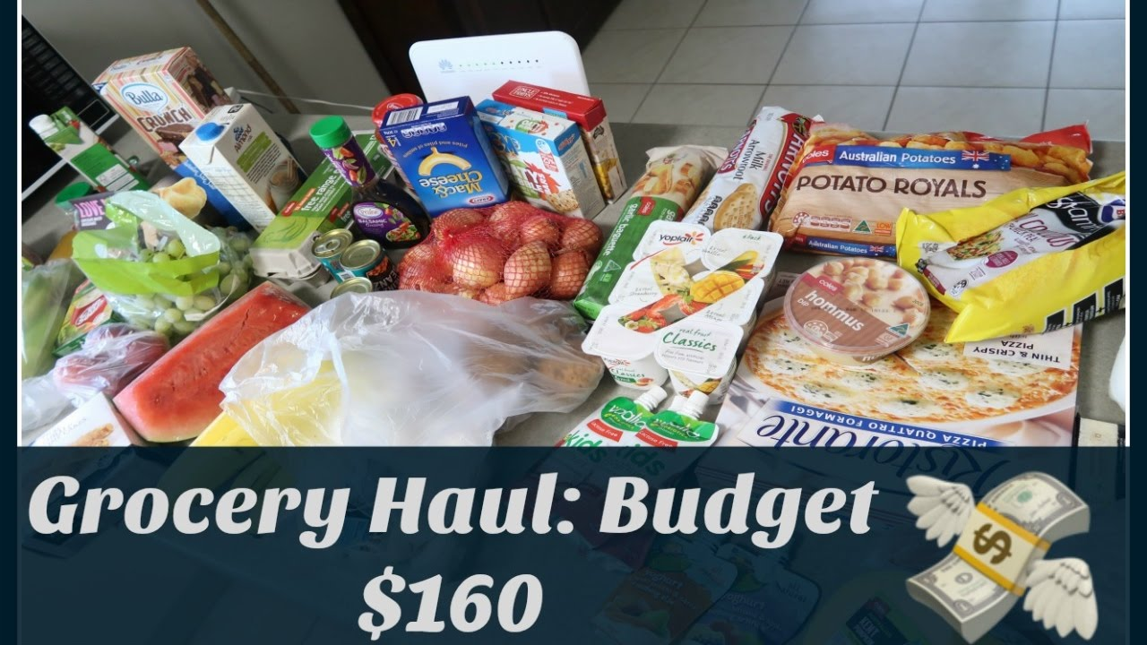 australian grocery haul 160 budget for family of 4 youtube