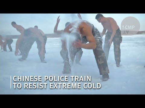 Cold resistance training: Chinese armed police confront severe sub-zero temperature