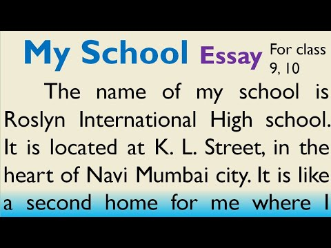 Essay on My School in English for Higher Secondary Students by Smile please world