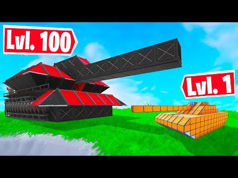 FORTNITE BUILD A Custom TANK CHALLENGE! (Fortnite Creative Mode)