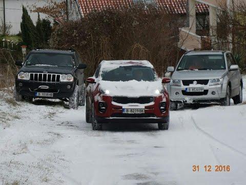 SUVs vs Stiff Ice slope, for fun