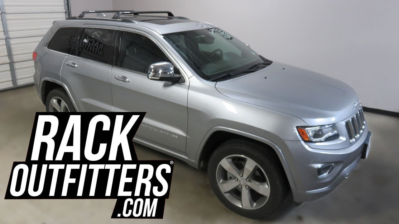 jeep grand cherokee  rhino rack rsp roof rack crossbars youtube