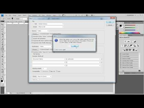 How to convert multiple/batch images with Photoshop CS4