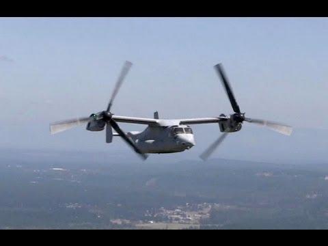 U.S. Marines MV-22 Osprey Aircraft In Action