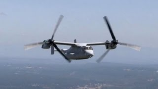 U.S. Marines MV-22 Osprey Aircraft In Action