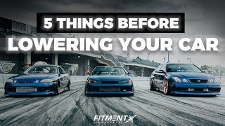 5 Things You Should Know Before Lowering Your Car