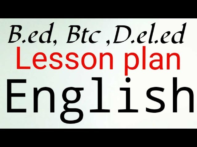 Lesson plan of english | class 5 | topic - Rain | B.ed, B.T.C, D.el.ed