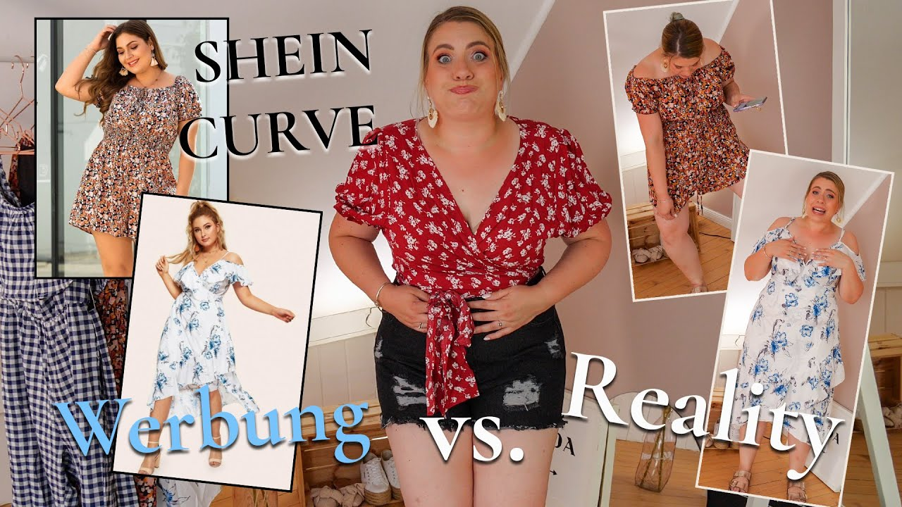 live try on haul shein curve - werbung vs. reality 🙈 gr. 44/46    missesviolet 💜