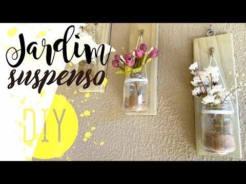 DIY Mason jar on wall - Jardim suspenso | Pricilla Calaça