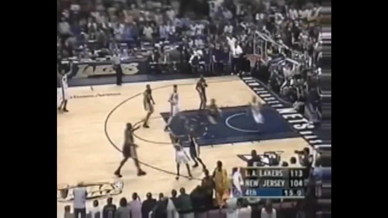 9131a1d546e Lucious Harris 22 points vs. Los Angeles Lakers (June 12, 2002 ...