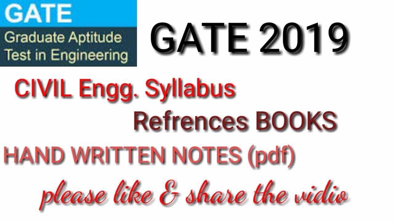 Gate Civil Engineering Syllabus Pdf
