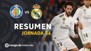 Resumen de Getafe CF vs Real Madrid (0-0)