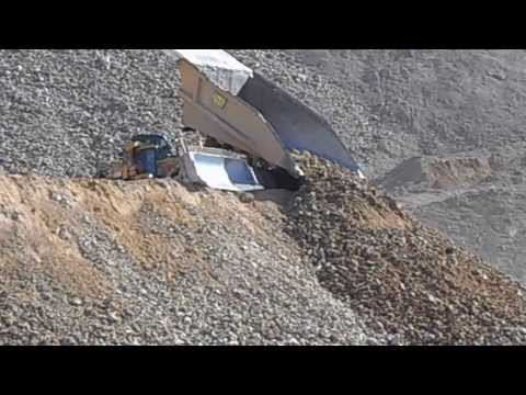 Dumping Mine Waste near Ruth, Nevada