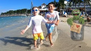 CRAZY Vacation Vlog at Beaches Ochos Rios - Sesame Street Does FORTNITE DANCES IN OUR ROOM!