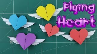 Origami Easy 3d Winged Heart | How To Make Paper Flying Hearts Tutorial | Diy Heart Gift Craft