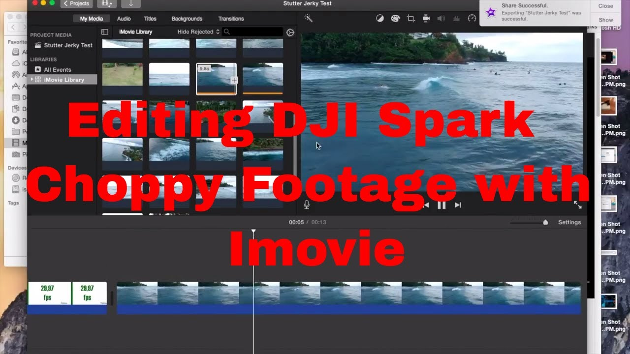DJI Spark Editing Tip: Removing choppy footage using iMovie
