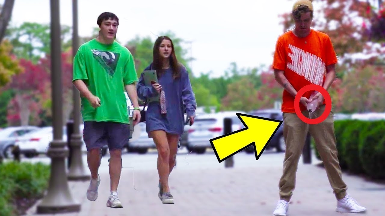 Peeing in Public Prank! | AWESOME REACTIONS | Best Funniest of Just For Laughs