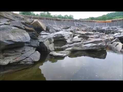 The Glacial Potholes at Shelburne Falls, MA (drone view)