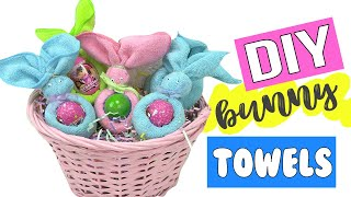 DIY Bunny Animal Towels! Step by Step Origami Easter Crafts  Toy Caboodle