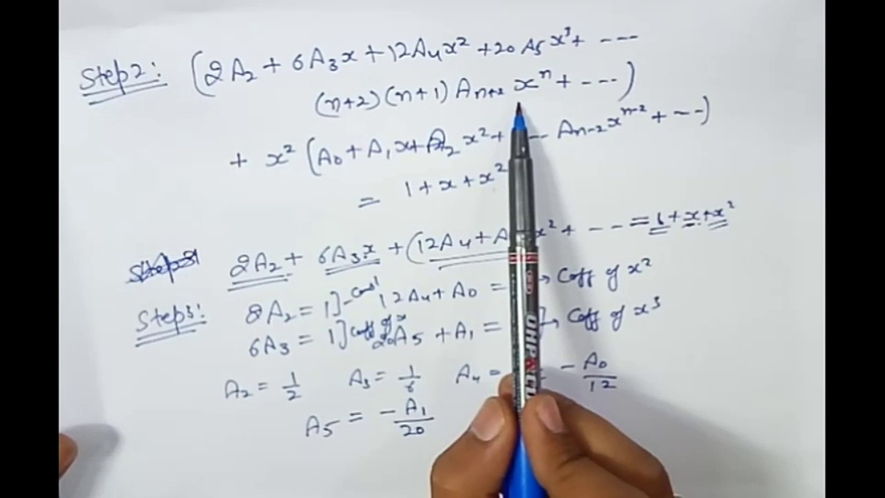 Chapter 1 || Power Series Method ||Example 1