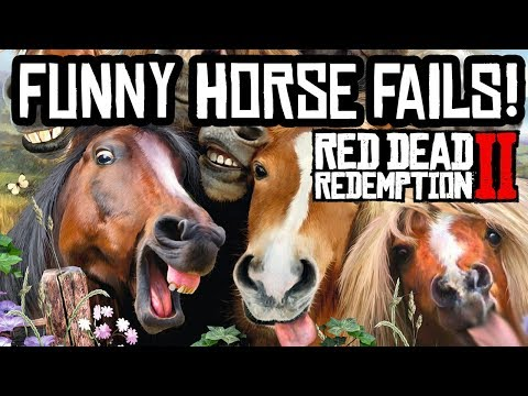 Red Dead Redemption 2 - Funny Horse Fails Funtage!