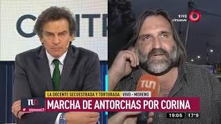 Moreno: Marcha de antorchas por Corina