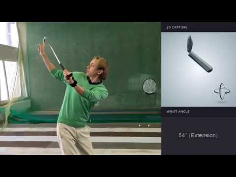 Full swing biofeedback with HackMotion Wrist Angle Sensor for golf