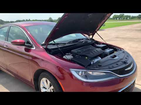 2015 RED Chrysler 200 C (1C3CCCCB2FN) with an 2.4L L4 DOHC 16V engine, 9-Speed Automatic transmission, located at 17760 Hwy 62, Morris, OK, 74445, (918) 733-4887, 35.609104, -95.877060 - Photo #0
