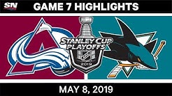 NHL Highlights | Avalanche vs. Sharks, Game 7 - May 8, 2019