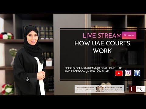 "LIVE STREAM: ""How UAE Courts Work"""