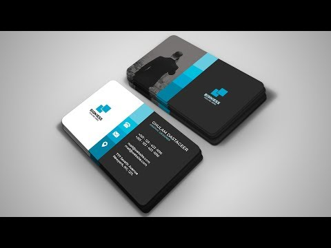Professional Business Card Design In Photoshop CC Tutorial 2019