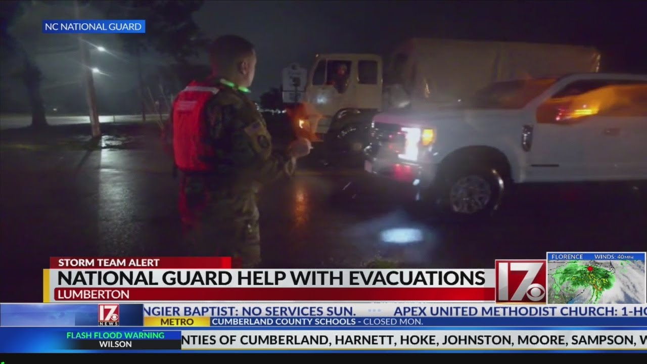 Mandatory evacuations issued for part of Lumberton, I-95 closed in area