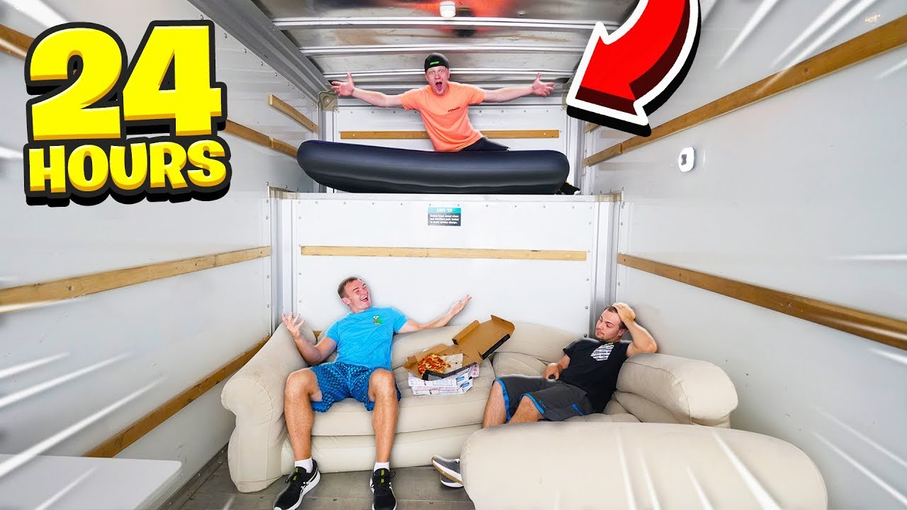 Download SPENDING 24 HOURS IN A MOVING TRUCK!
