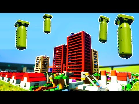 LEGO CITY DESTROYED BY MULTIPLE NUCLEAR BOMBS! - Brick Rigs Workshop Creations Gameplay