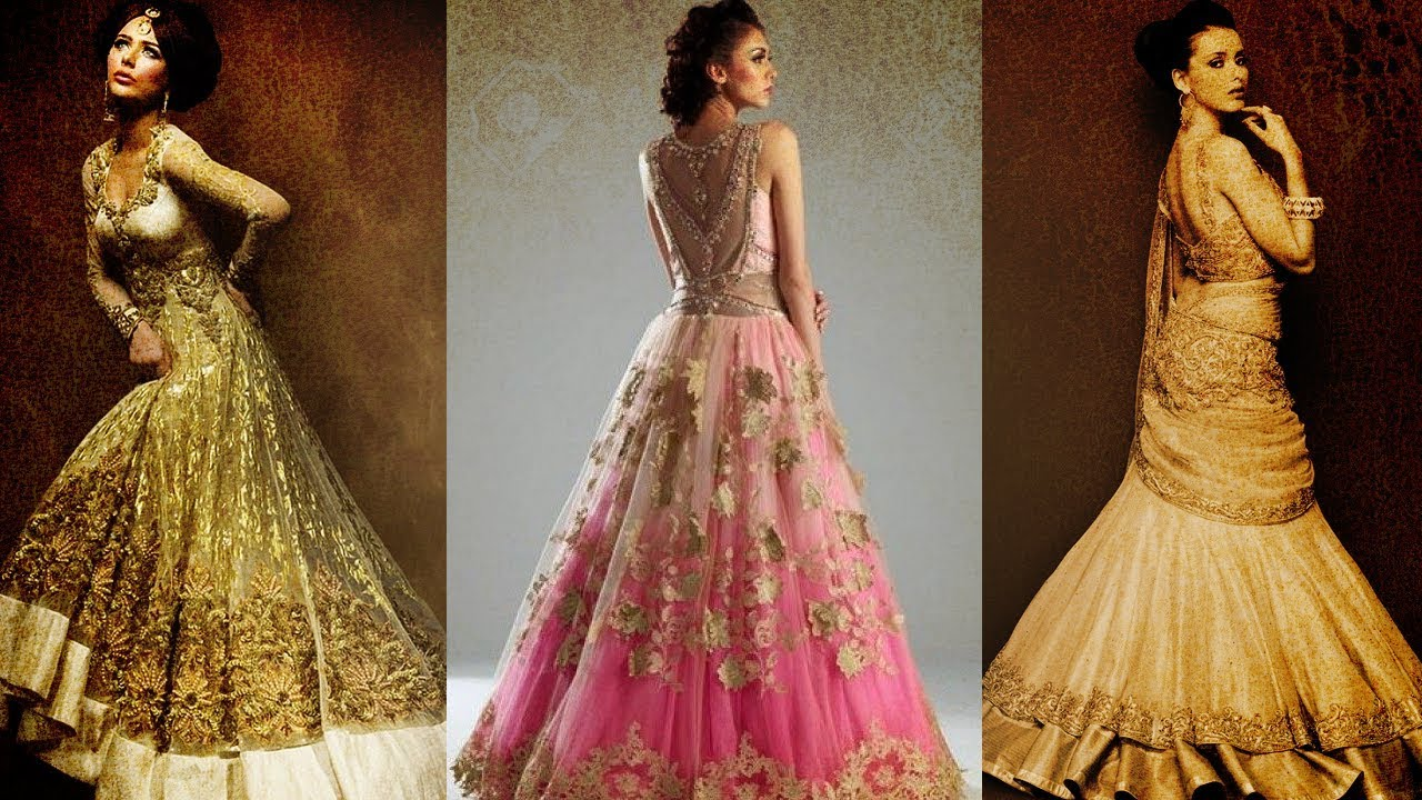 Ten Best Selling Lehenga Gown Designs On Amazon India Youtube