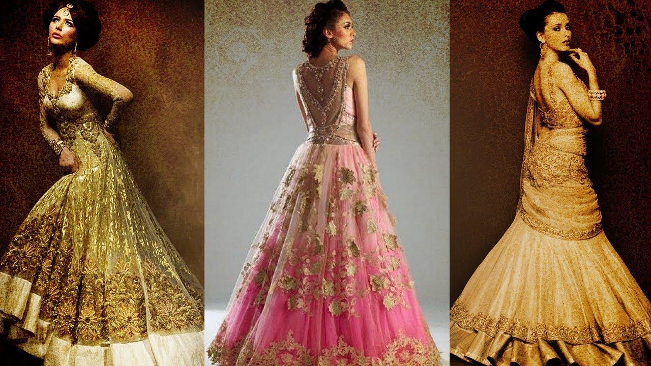 Ten Best Selling Lehenga Gown Designs On Amazon India - YouTube