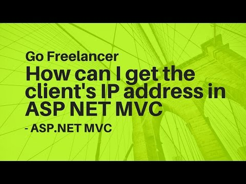 How can I get the client's IP address in ASP NET MVC - YouTube