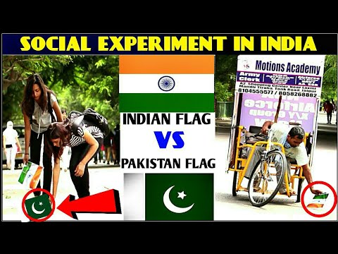 INDIAN FLAG  VS  PAKISTAN FLAG !! Social Experiment in india !! by 3 jokers