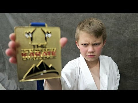 KID WINS KARATE GOLD MEDAL!!!