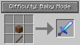 "Minecraft UHC but with ""baby mode"" difficulty.."