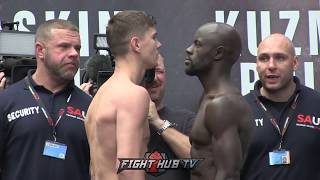 LUKE CAMPBELL V YVAN MENDY  - WEIGH-IN & HEAD TO HEAD