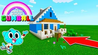 "Minecraft: How To Make Gumballs Hidden Base House ""Amazing World Of Gumball House"""