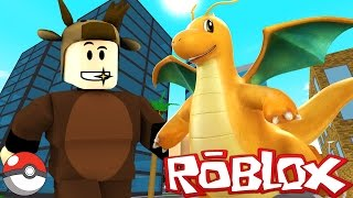 FINDING DRAGONITE! / POKEMON GO IN ROBLOX! (Roblox Pokemon Go)