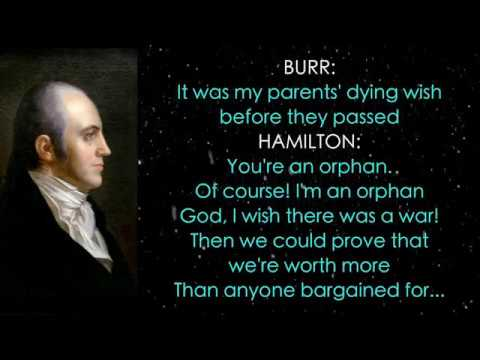 2. Hamilton Lyrics - Aaron Burr, Sir