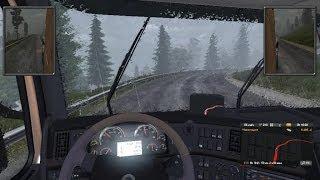 euro Truck Simulator 2 часть 3-дальнобойщик в дождь-Евро Грузовик Симулятор 2