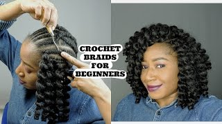 CROCHET BRAIDS DIY BEGINNER FRIENDLY || BOUNCY CURLY WAND HAIR