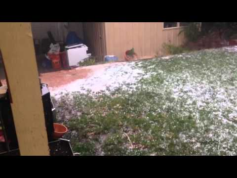 Extreme hail storm in Canberra