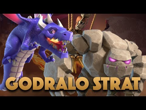 Thumbnail: Godraloon Strategy For Town Hall 9 | TH9 Golem Dragon Attack 3 Star In War | Clash Of Clans